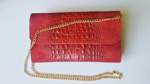 catenina tracolla pochette rossa