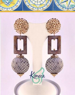 Orecchini in Pelle e Madreperla – Luxury Collection