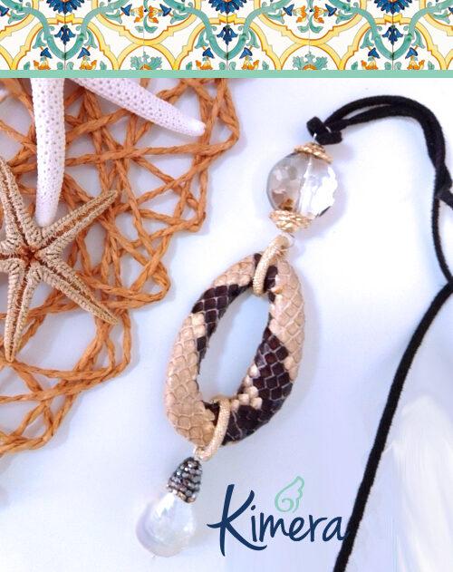 Collana in Pitone, Cristalli e Perle di Fiume – Luxury Collection