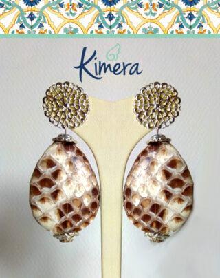 Orecchini in Pitone toni naturali – Luxury Collection