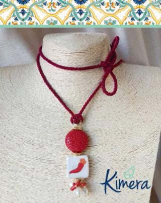 Collana Maiolica Corno portafortuna – Collezione Mediterranea