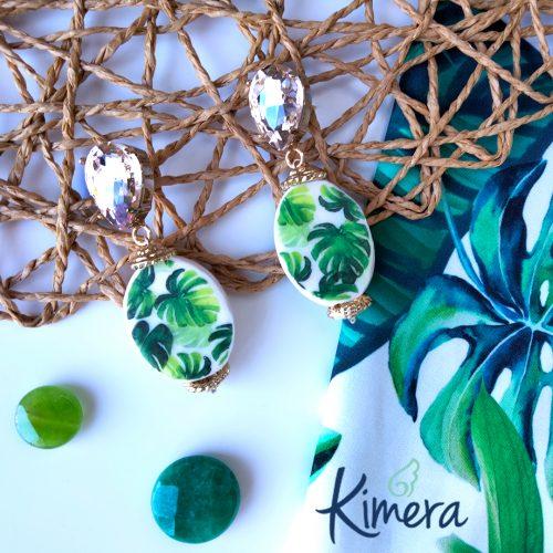 Orecchini Tropicali foglia Monstera – Luxury Collection